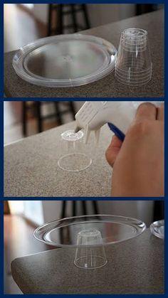 baleiro feito à partir de materiais simples para festa (copo e prato) fonte: face:
