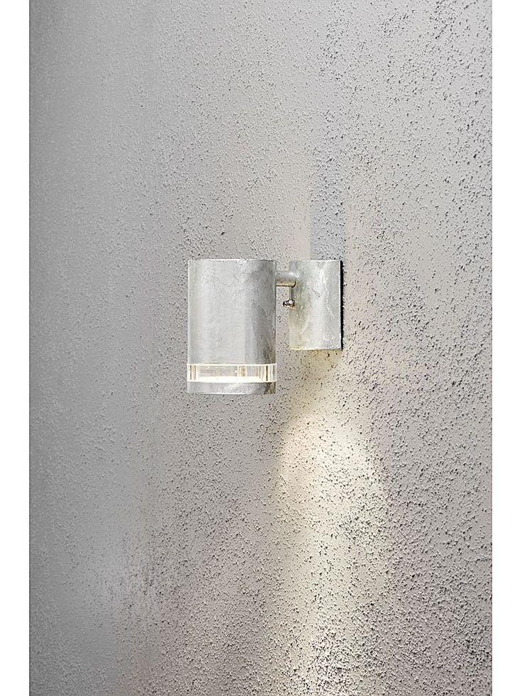 Galvaniserad utomhuslampa - Konstsmide Modena vägglampa