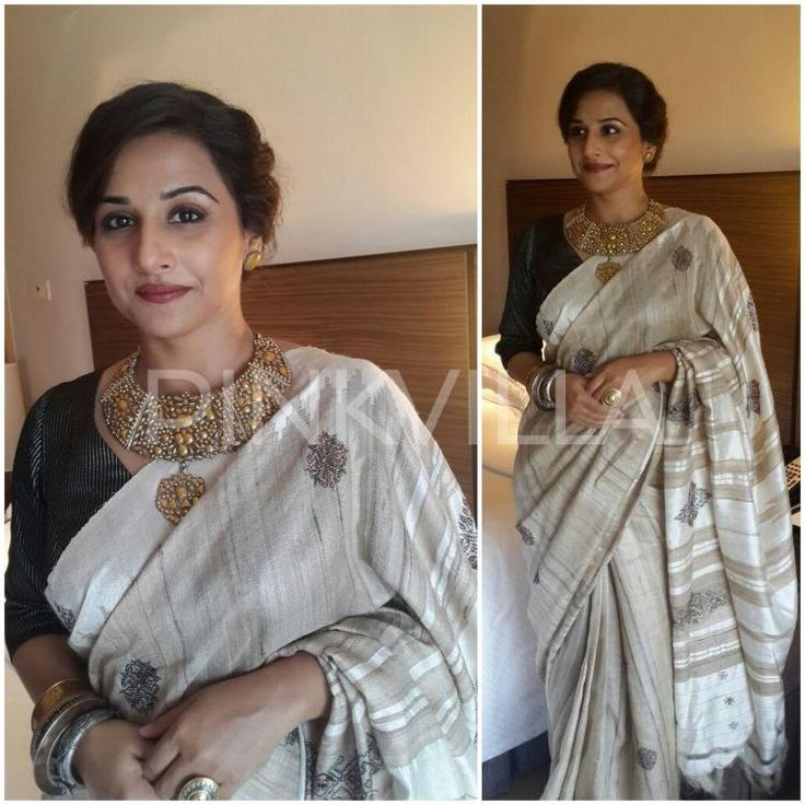Yay or Nay : Vidya Balan's traditional look in a Assam Silk Saree | PINKVILLA