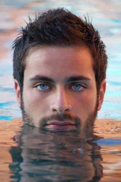 Man With Blue Eyes Black Hair And Beard Google Search