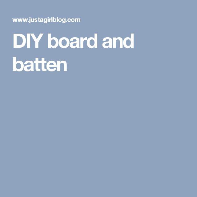 Board, Batten, Batten, Girl Blog