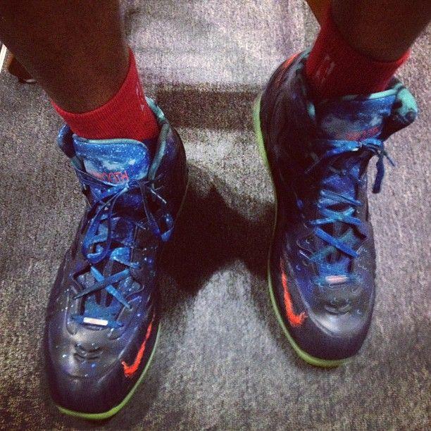 "LaMarcus Aldridge Nike Galaxy Hyperposite ""L-Smooth"" PE @Sam Padgett: Aldridge Nike, Nike Galaxy, Pe Sam, Hyperposite L Smooth, Lamarcus Aldridge, Galaxy Hyperposite, Sam Padgett"