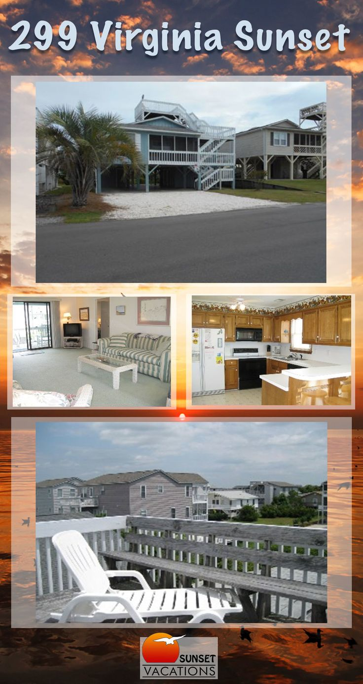 Virginia Sunset is a wonderful 4 bedroom vacation rental, located in Sunset Beach, NC! This home is cute, comfortable, and BUDGET-FRIENDLY!!