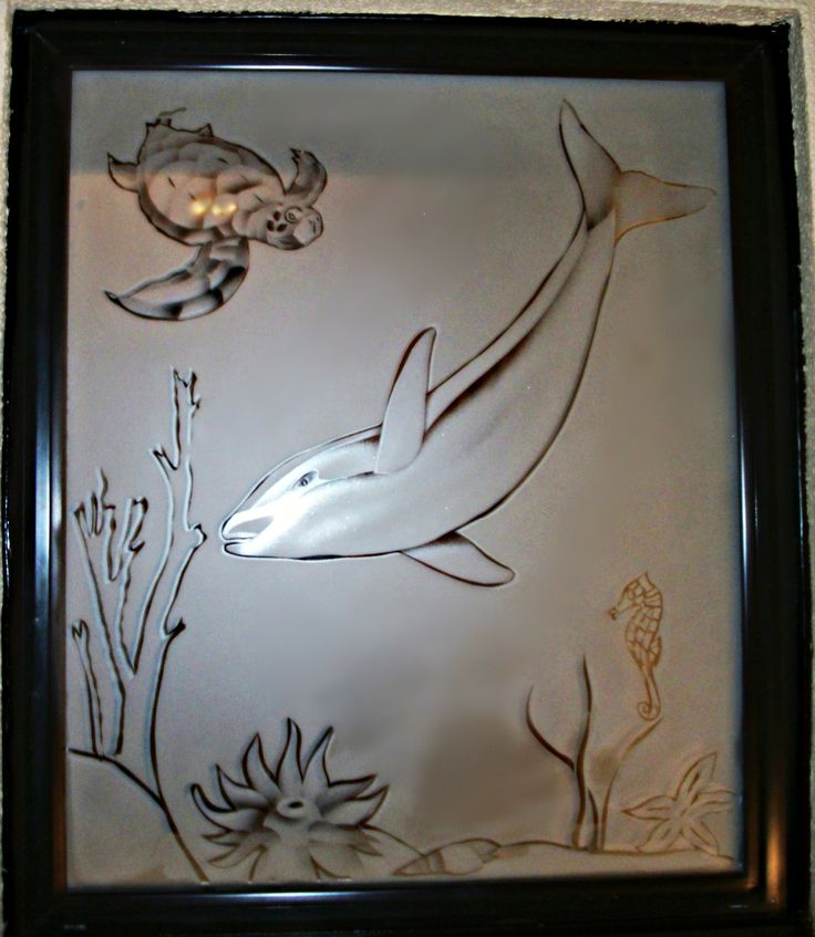 Dolphin Window I Etched On Site At The Beaches My Art
