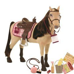 """Our Generation Poseable Morgan Horse With Accessories - 20"""""""