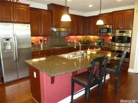 Home For Sale   Greg Wyatt, Granite Bay Real Estate Beautiful Cherry  Cabinets, Granite Counters, And Stainless Steel Appliances.