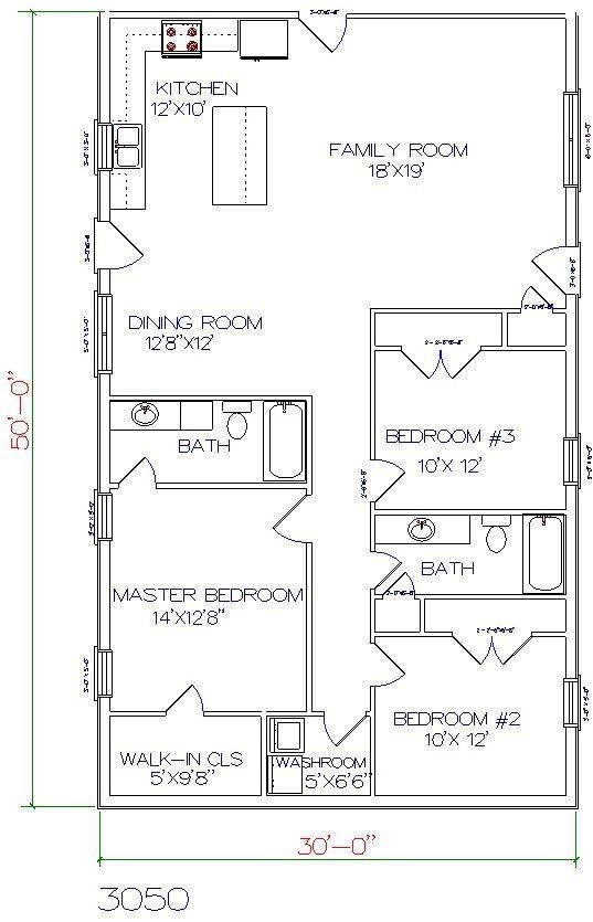 1000 ideas about barndominium floor plans on pinterest for 3 bedroom barndominium floor plans