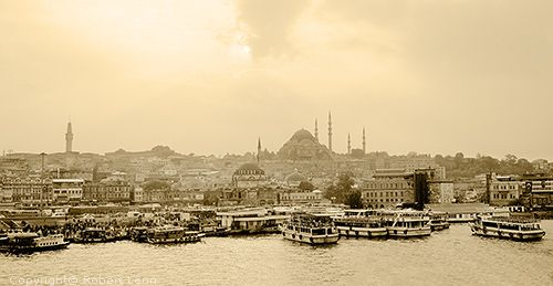 picture of Suleymaniye Camii, Suleiman the Magnificent Mosque, The Golden Horn, Istanbul, Turkey - photograph 14istan345bpano02 - Istanbul Turkey pictures