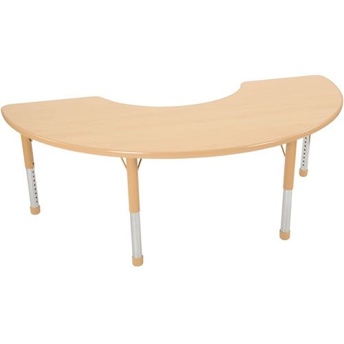 nature color chunky 36x72 half moon tables
