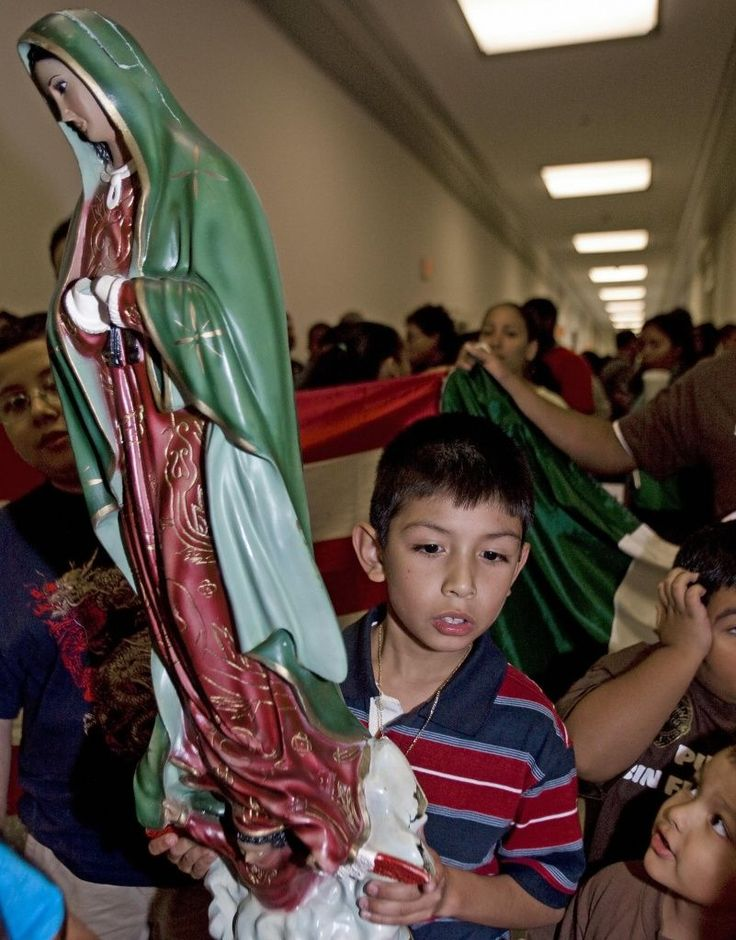 """The Virgin of Guadalupe also holds deep political meaning. """"Long live our Lady of Guadalupe!"""" was a cry for the Mexican revolution in 1810."""