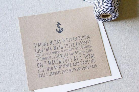 DIY Wedding Invitations –