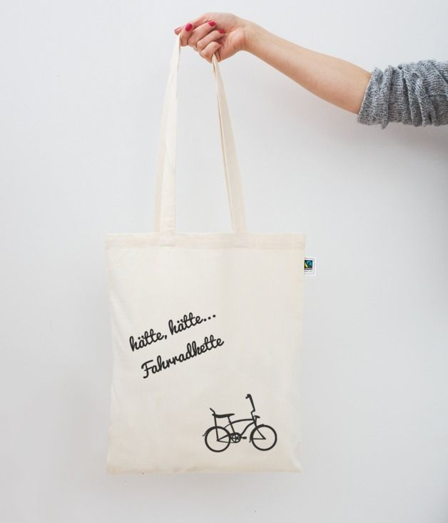 Jutebeul mit Spruch // tote bag with funny quote via DaWanda.com