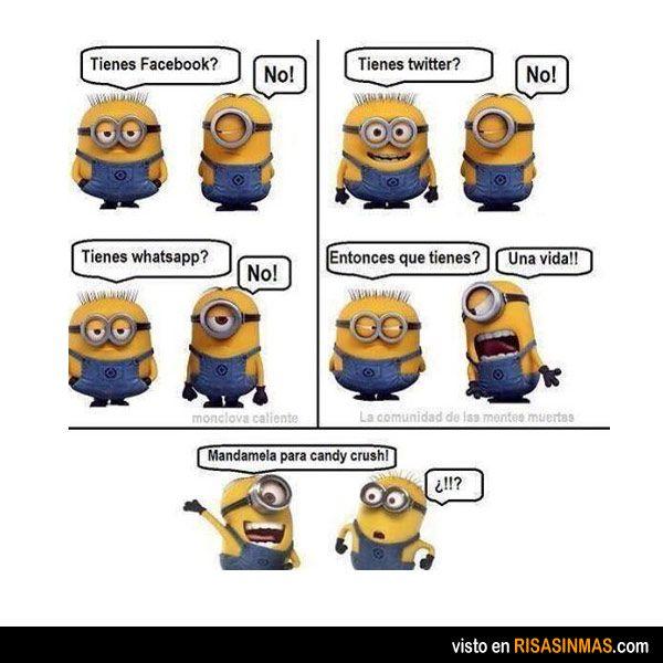 Los minions y las redes sociales.