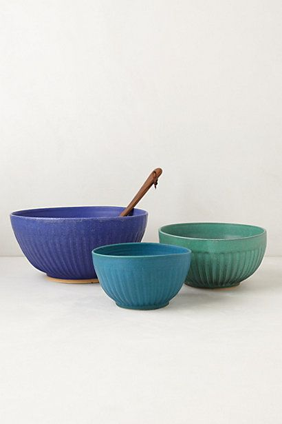 Hand-Thrown Mixing Bowl #anthropologie A color scheme I could live with