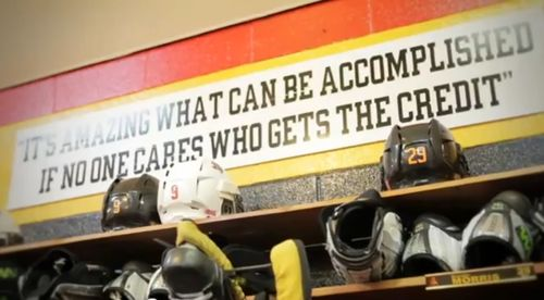 again, a great hockey/sports quote. But I don't know what team this is from!