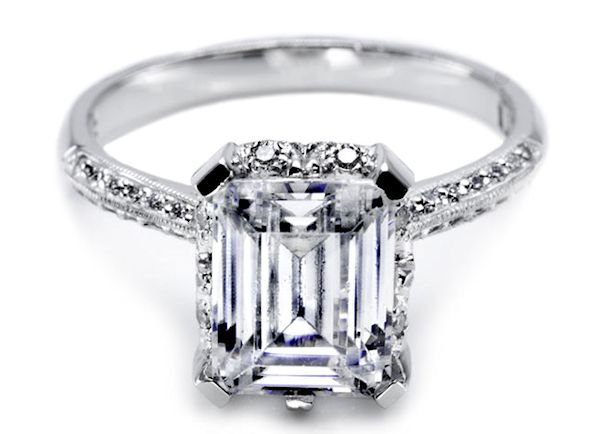 17 Best ideas about Rectangle Engagement Rings on Pinterest