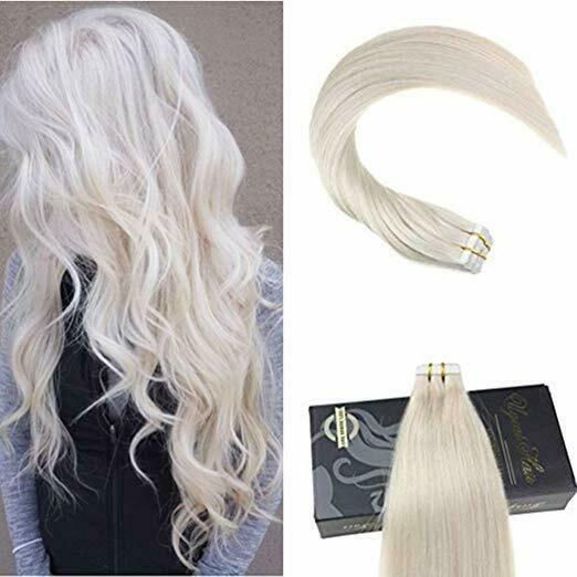 Ugeat 50gr 14inch PU Weft Tape in Real Human Hair …
