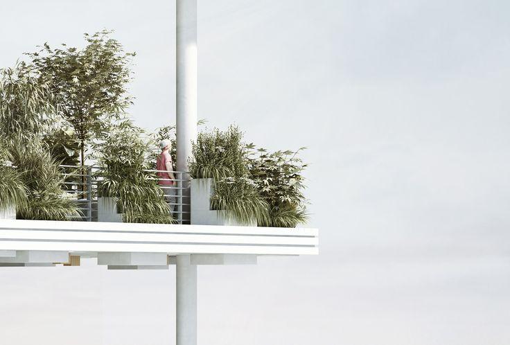 Gallery of Penda Designs Sky Villas with Vertical Gardens for Hyderabad - 21