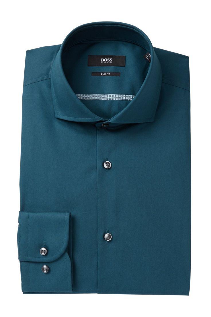 Jerrin Solid Slim Fit Dress Shirt