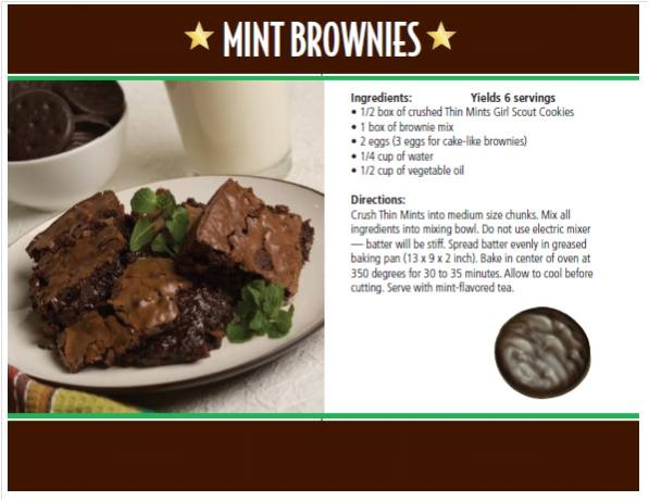 Girl scout cookie recipe