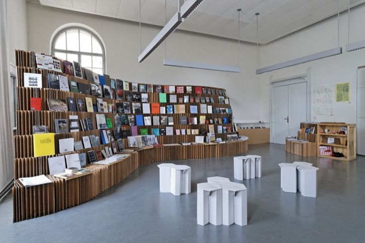 UdK Berlin Bookshop 2010 Each year UdK Berlin organizes a small competition among the students for the concept of a Bookshop inside the School. Winning proposal for the shop was designed by Dalia Butvidaite, Leonard Steidle, Johannes...