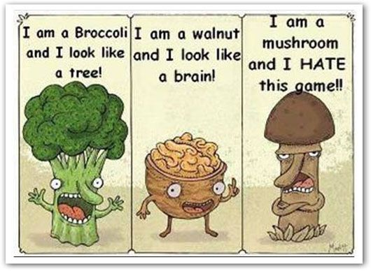 Fun and games: Funny Pictures, The Games, Food Humor, Too Funny, Funny Stuff, Food Games, Veggie, Funnystuff, Mushrooms