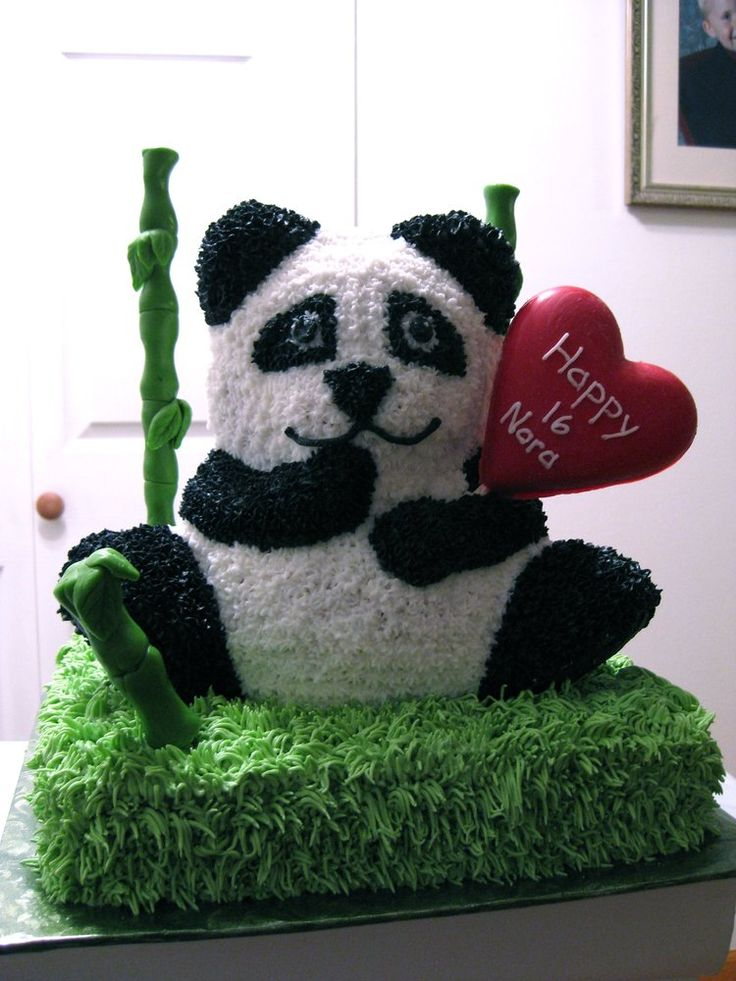 Sweet 16 Panda Cake with Bamboo  Trents Birthday