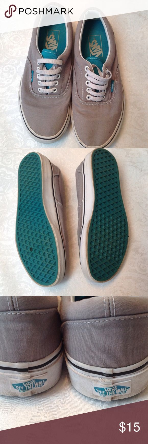 Vans men's size 6 1/2 gray and teal Vans. (B) Vans Shoes Flats & Loafers
