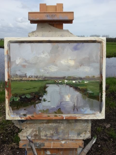 Roos Schuring Plein Air Painting #pleinair #enpleinair #landscape #art #artist #painting