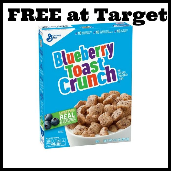 Target - FREE Blueberry Toast Crunch Cereal! TODAY ONLY - http://dealmama.com/2017/07/target-free-blueberry-toast-crunch-cereal-today/