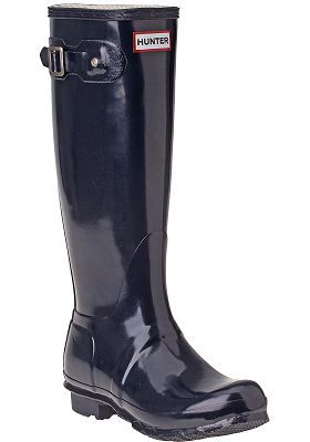 Hunter Boots - Original Glossy Rain Boot Navy