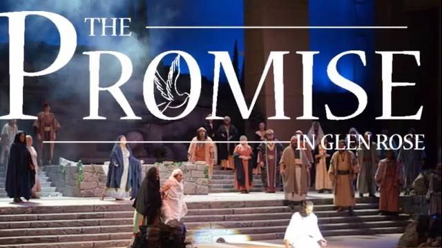 The Promise in Glen Rose Texas--A long-running musical about Christ's life featuring live animals & 200 actors in a 3,250-seat space. Amazing to witness in person--5000 Texas Dr, Glen Rose, TX-www.thepromiseglenrose.com