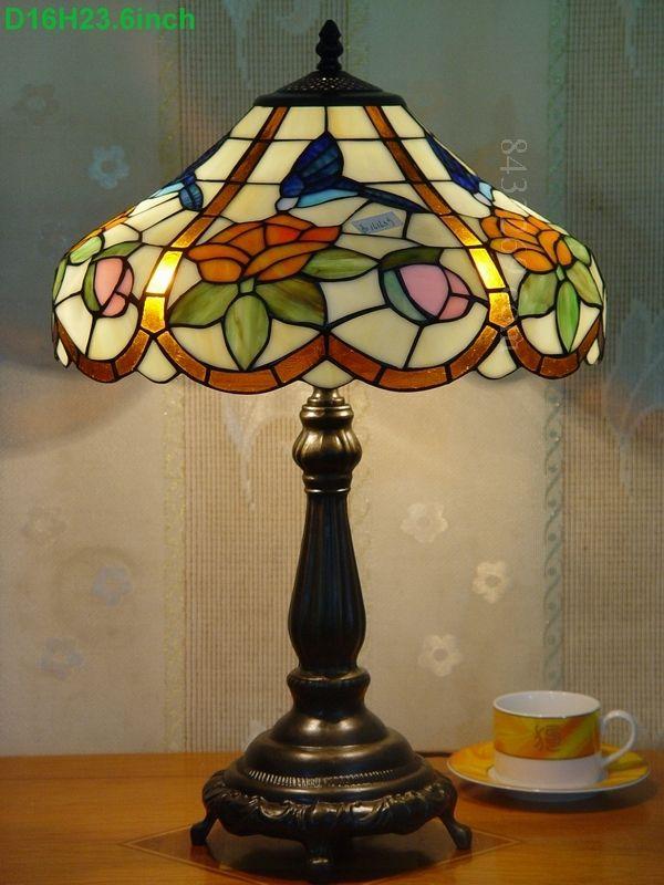 Humming Bird Tiffany Lamp 16S10 35T615