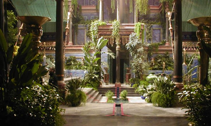 "arcadiuswild: ""arjuna-vallabha: ""Babylon gardens, from Alexander Movie set. "" Fucking take me there! """