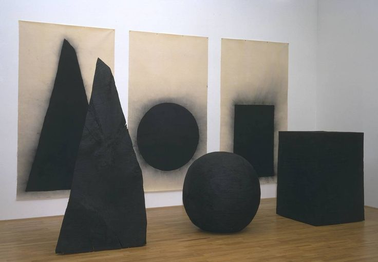 David Nash born 1945 Pyramid From Pyramid, Sphere, Cube Date 1997–8 Medium Charcoal on canvas Dimensions Support: 1530 x 2750 mm Collection Tate Acquisition Purchased 1999