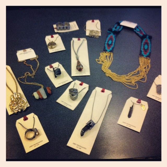 A sample of our OBEY jewelery