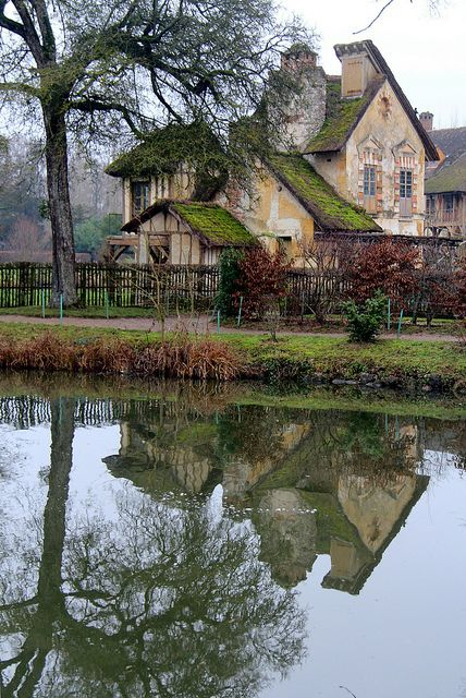 Versailles ~ Marie Antoinette's cottage at the Petit Trianon's Hameau de la Reine, France