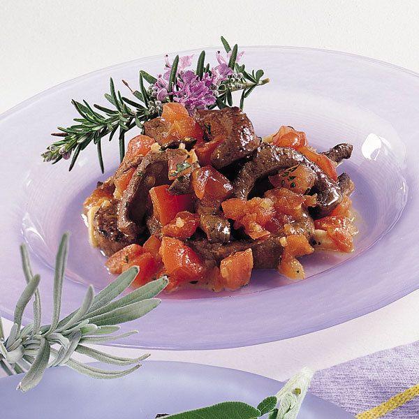 Rehleber mit Tomaten