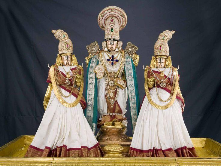 lord venkateswara with Padma devi and Alivelu Manga