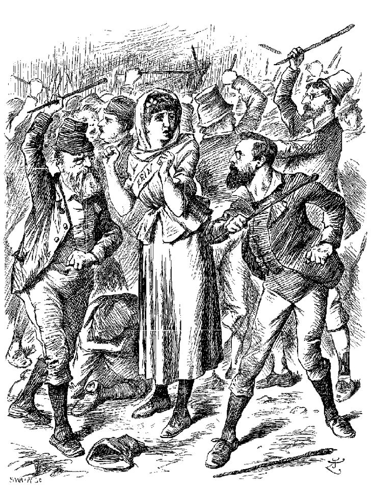 """""""There'll be wigs on the green!"""" ~ Isobel Crawley to Lord Merton, in regards to new hospital plans, Season 6, Episode 1. (Punch Magazine, or London Charivari, September 15, 1894, The Friends of Ireland. Alamy stock photo, www.alamy.com )"""