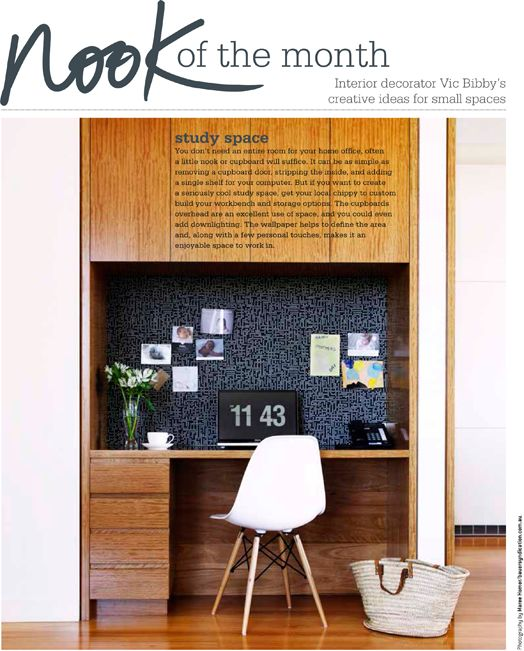 Cush and Nooks: Nook of the Month