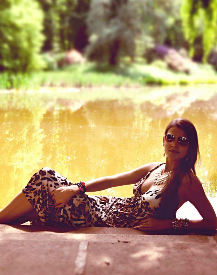 leopardí letní maxi šaty!