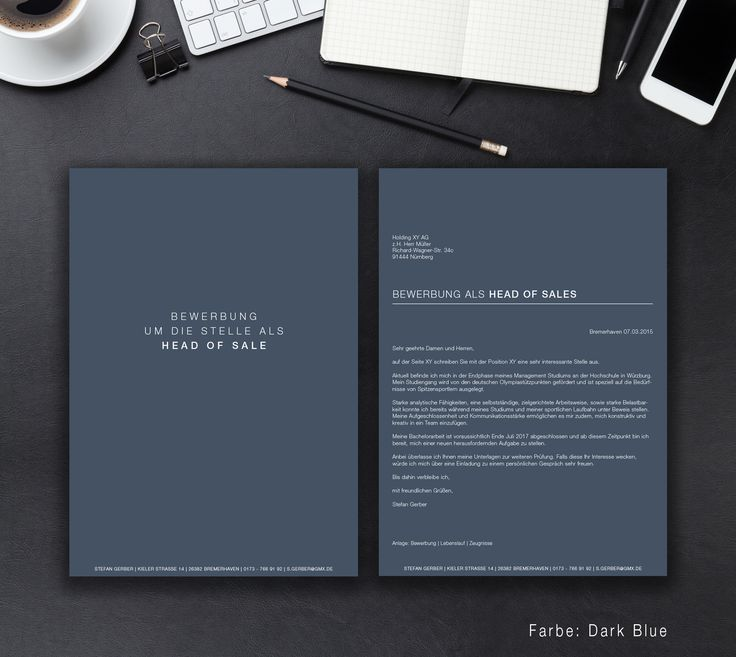"""Unsere Bewerbungsvorlage """"Clean Classic"""" in der Farbe Dark Blue. Old but Gold ist das """"Clean Classic"""" Design. Der Klassiker der Vorlagen im modernen Anzug. Sie erhalten von uns ein Deckblatt, Anschreiben, Lebenslauf und ein Motivationsschreiben. Die Datei bekommen Sie als fertige Pages- oder Word-Datei inklusive Platzhaltertext mit Hinweisen."""