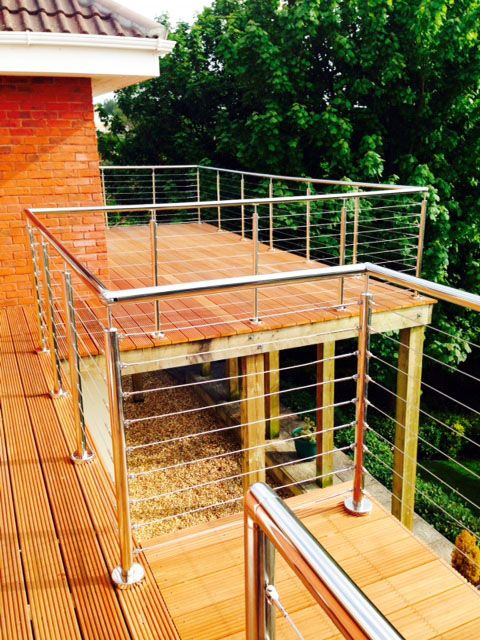 Wire Rope System - the perfect addition to a domestic property.