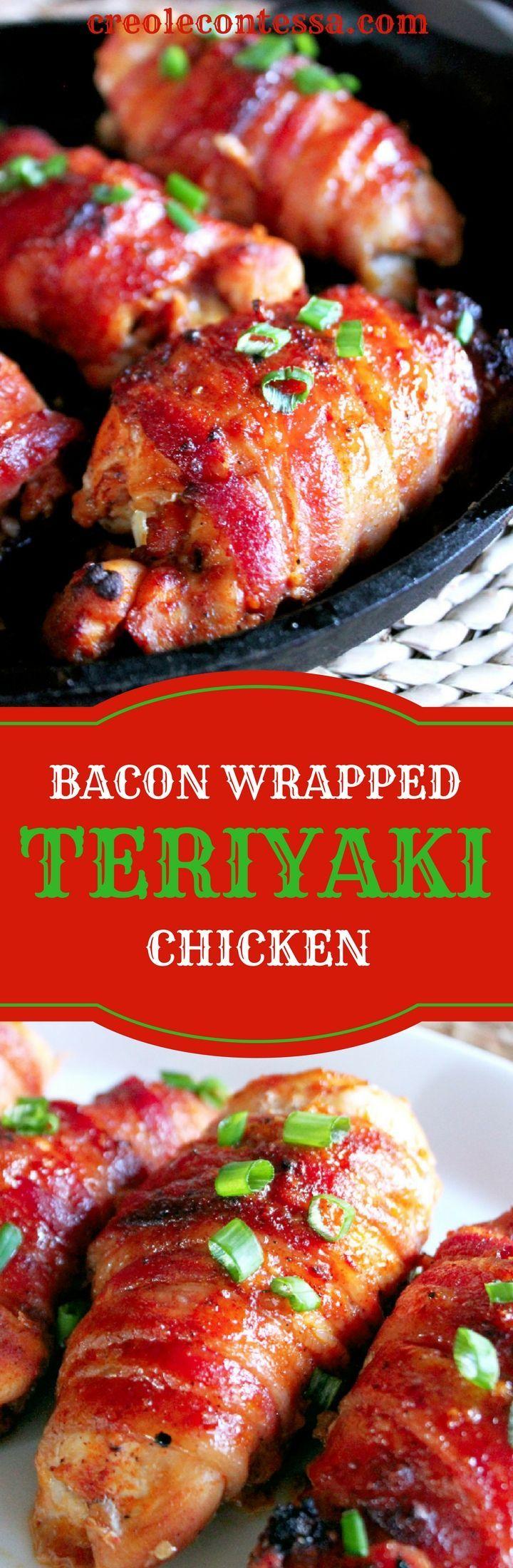 Bacon Wrapped Teriyaki Chicken with Kikkoman-Creole Contessa #ad /kikkoma/