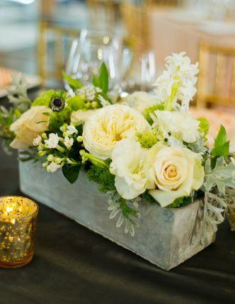Concrete vase floral display