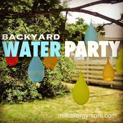 Summer Birthday Party for $50. Water Balloon Pinatas.  Allergy-Free Party Food.  Water Party Right in Your Back Yard.