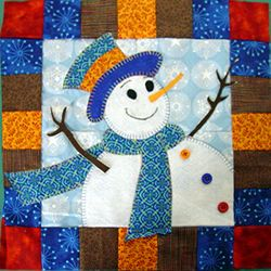 Snowman Quilt Challenge – Block 1 | Simple Sewing Projects
