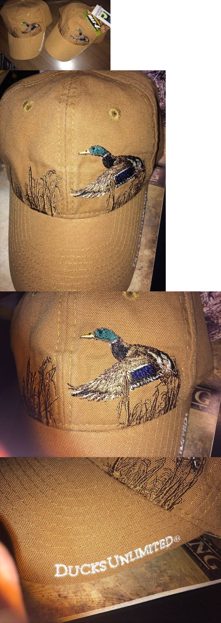 Hats and Headwear 159035: 2 Ducks Unlimited Hats Landing Mallard Marsh-Tan Cotton Canvas Max4 Undervisor BUY IT NOW ONLY: $48.96