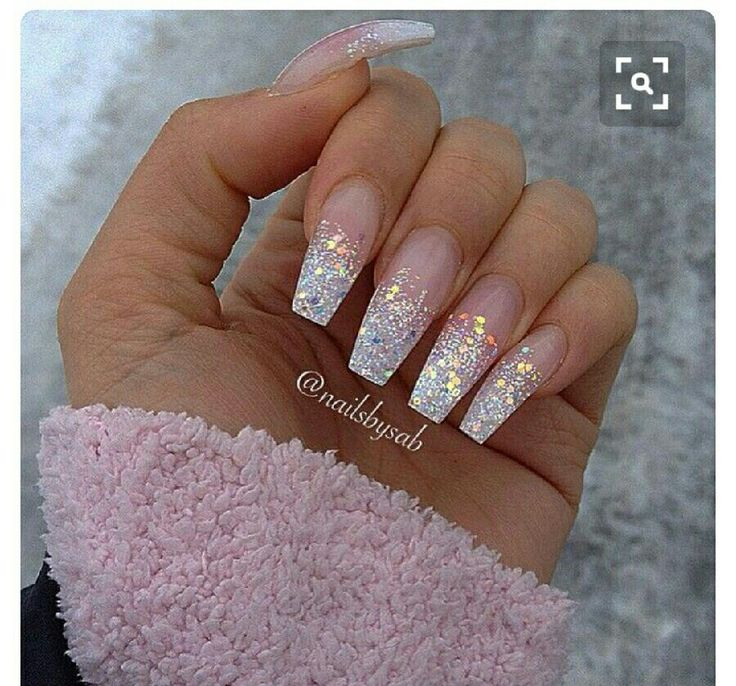Ombre French Tip Coffin Nails